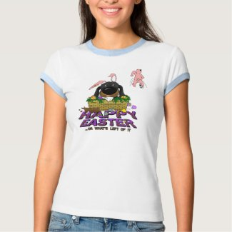Naughty Doxie Happy Easter shirt