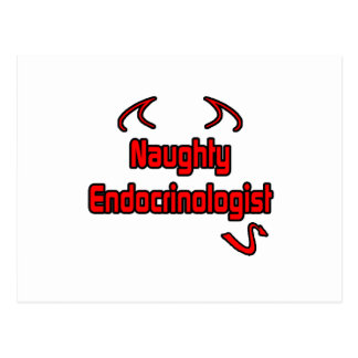 Naughty Endocrinologist Postcard