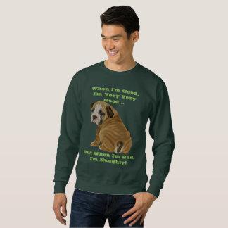 Naughty English Bulldog Puppy Sweatshirt