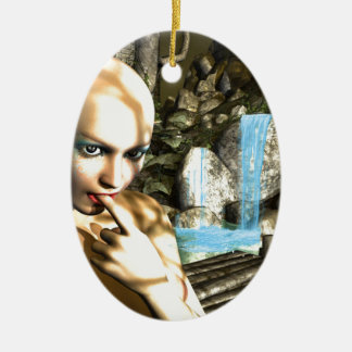 Naughty Fairy Ceramic Ornament