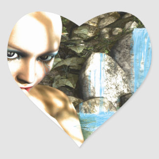 Naughty Fairy Heart Sticker