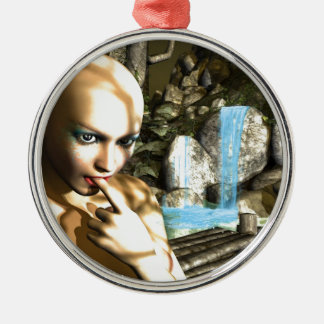 Naughty Fairy Metal Ornament