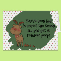 Naughty Funny Christmas Reindeer Poop Card