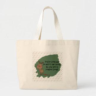 Naughty Funny Christmas Reindeer Poop Gift Saying Tote Bags