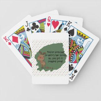 Naughty Funny Christmas Reindeer Poop Gift Saying Bicycle Playing Cards