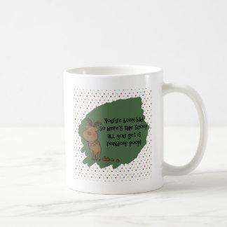 Naughty Funny Christmas Reindeer Poop Gift Saying Coffee Mug