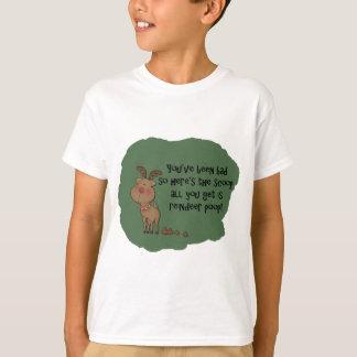 Naughty Funny Christmas Reindeer Poop Gift Saying T-Shirt