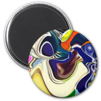 Naughty Girl 2 Inch Round Magnet