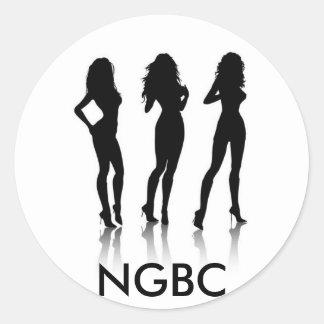Naughty Girl Book Club Classic Round Sticker