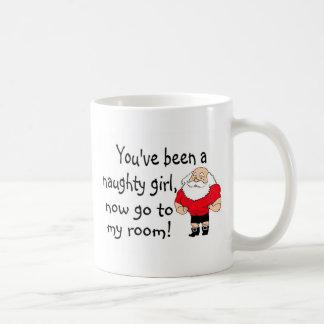 Naughty Girl Go To Santas Room Mugs
