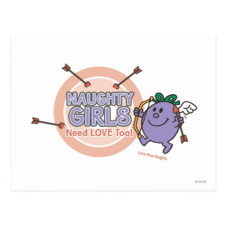 Naughty Girls Need Love Too! Postcard
