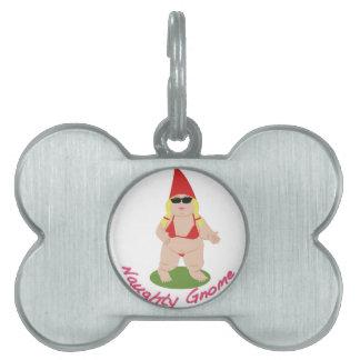 Naughty Gnome Pet ID Tag