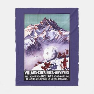 Naughty Gnomes Making Giant Snowball Poster Fleece Blanket