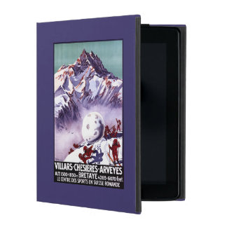 Naughty Gnomes Making Giant Snowball Poster iPad Cover