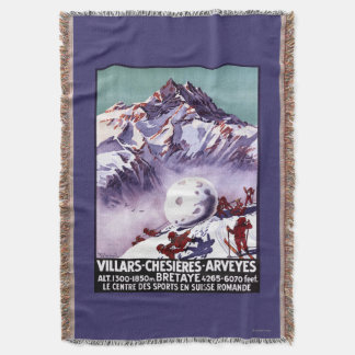 Naughty Gnomes Making Giant Snowball Poster Throw