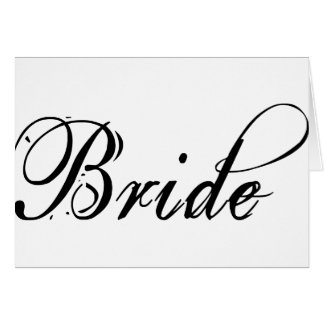 Naughty Grunge Script - Bride Black Card