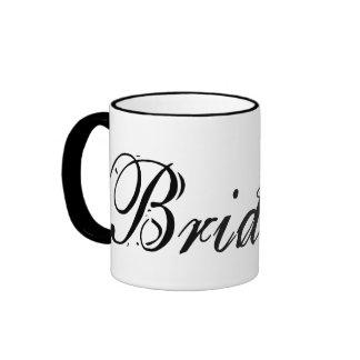 Naughty Grunge Script - Bride Black Ringer Mug
