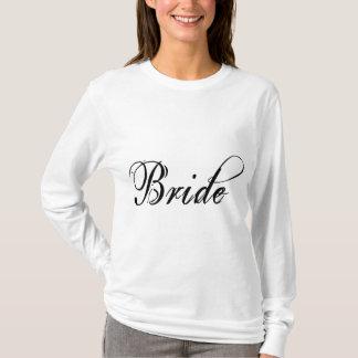 Naughty Grunge Script - Bride Black T-Shirt