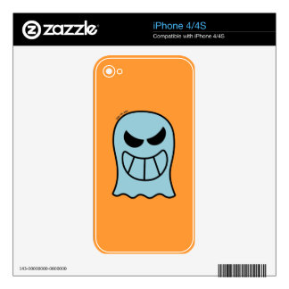Naughty Halloween Ghost Decals For iPhone 4S