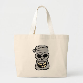Naughty Halloween Mummy Large Tote Bag