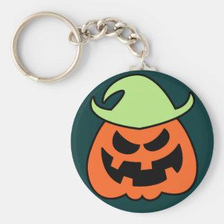 Naughty Halloween Scarecrow Basic Round Button Keychain