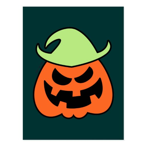 Naughty Halloween Scarecrow Postcard
