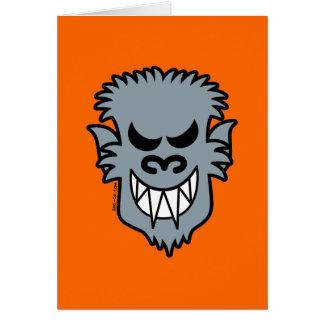 naughty halloween werewolf card - Naughty Halloween