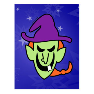 Naughty Halloween Witch Postcard