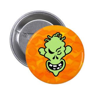 Naughty Halloween Zombie Pinback Button