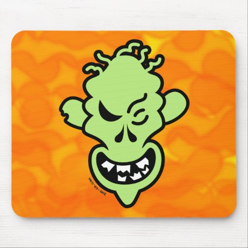 Naughty Halloween Zombie Mouse Pad