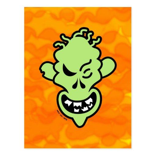 Naughty Halloween Zombie Post Cards