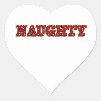 Naughty Heart Sticker