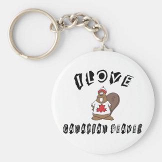 Naughty I Love Canadian Beaver Keychain