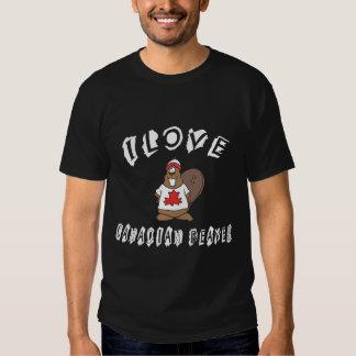 Naughty I Love Canadian Beaver T-shirt