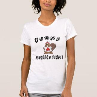 Naughty I Love Canadian Beaver T-Shirt T-shirts