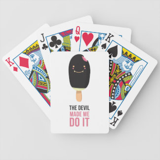 Naughty ice cream bicycle playing cards