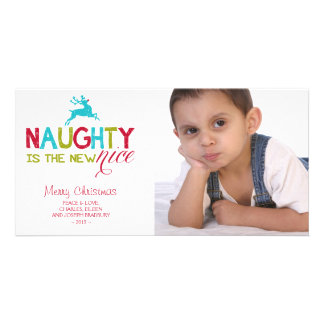 Naughty is the New Nice Christmas Customized Photo Card