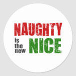 Naughty is the New Nice Classic Round Sticker