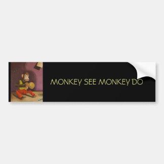 naughty kid detail(Monkey) Car Bumper Sticker