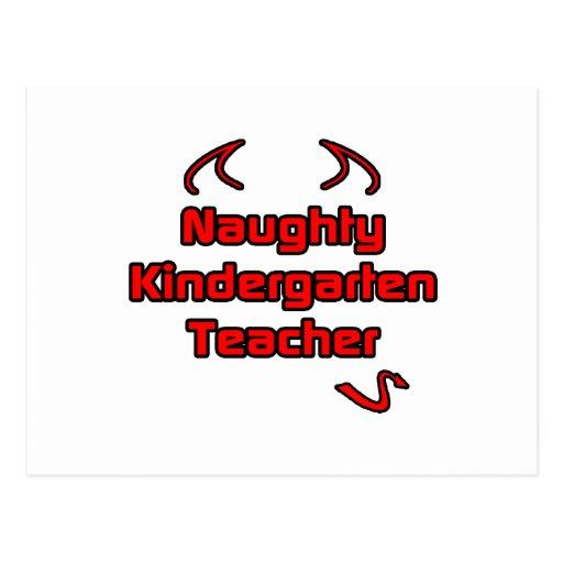 Naughty Kindergarten Teacher Postcard