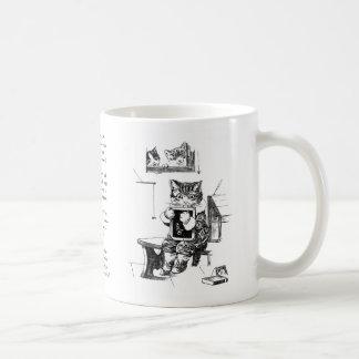 Naughty Kitten Kept In to Do Sums Coffee Mug