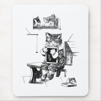 Naughty Kitten Kept In to Do Sums Mouse Pad