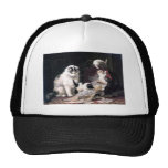 Naughty kittens cats playing with basket adorable trucker hat