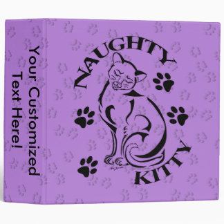 """Naughty Kitty 2"""" Binder"""