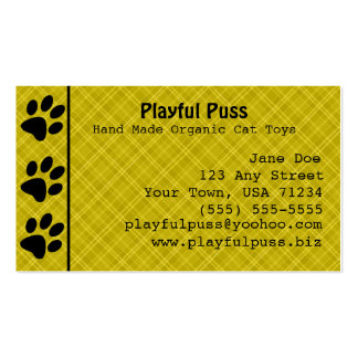 Naughty Kitty Gold Business Card