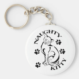 Naughty Kitty Keychain