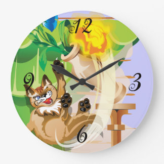 Naughty Kitty Wall Clock