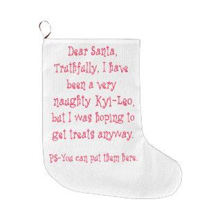Naughty Kyi-Leo Large Christmas Stocking