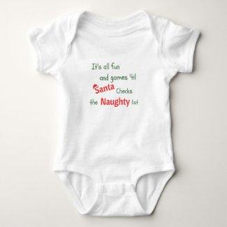 Naughty List Baby Bodysuit