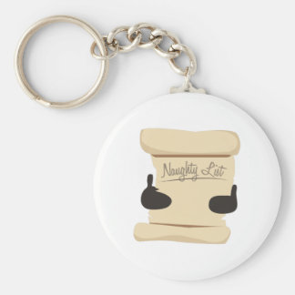 Naughty List Basic Round Button Keychain